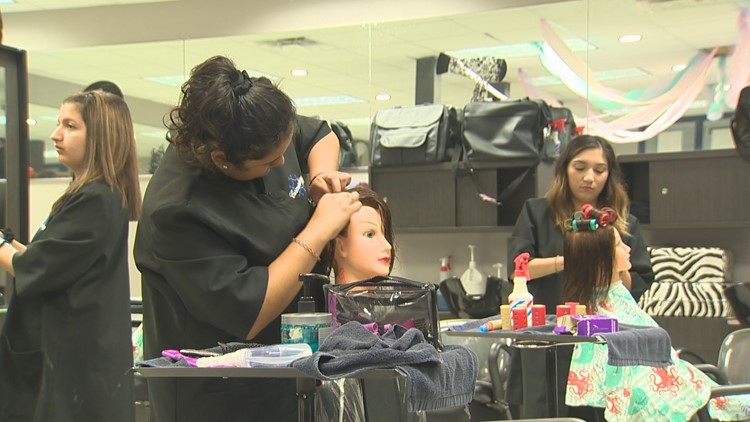 PHOTOS: Students excel in cosmetology program at Hays High ...