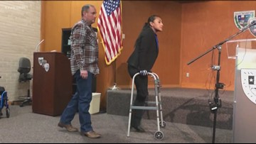 San Marcos police officer shares story of recovery, support
