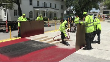 Downtown Austin bus lanes to be painted red