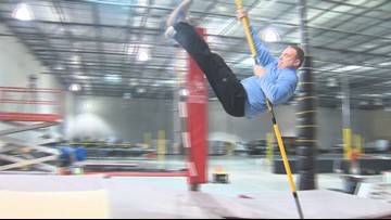 KVUE Daybreak reaches new levels pole vaulting