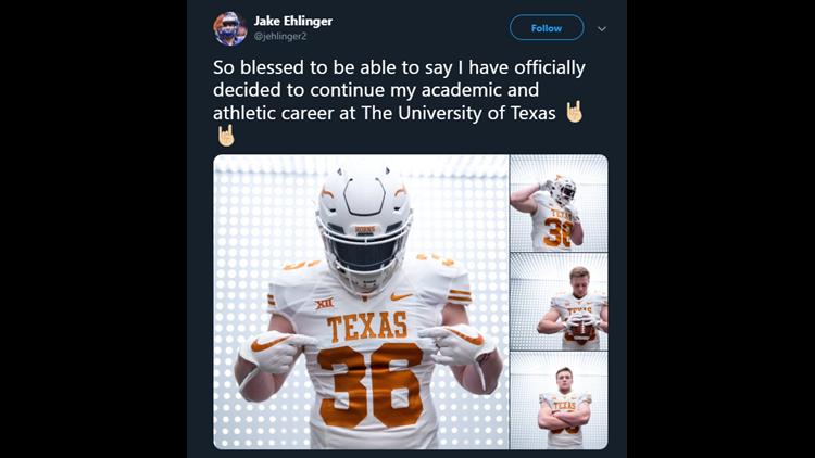 Jake Ehlinger commits to the University of Texas