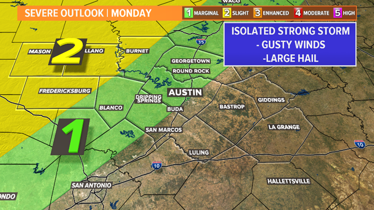 Strong storms possible late Monday afternoon and evening; daily rain chances this week