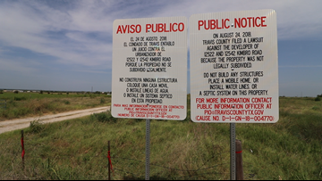 Travis County prohibits land buyers from area 'not legally subdivided'