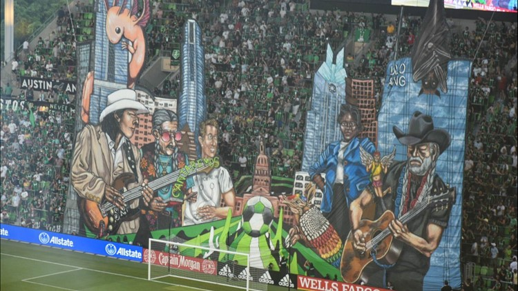 'City of Legends'   Austin FC fans reveal TIFO featuring Willie Nelson, other Austin legends and sights