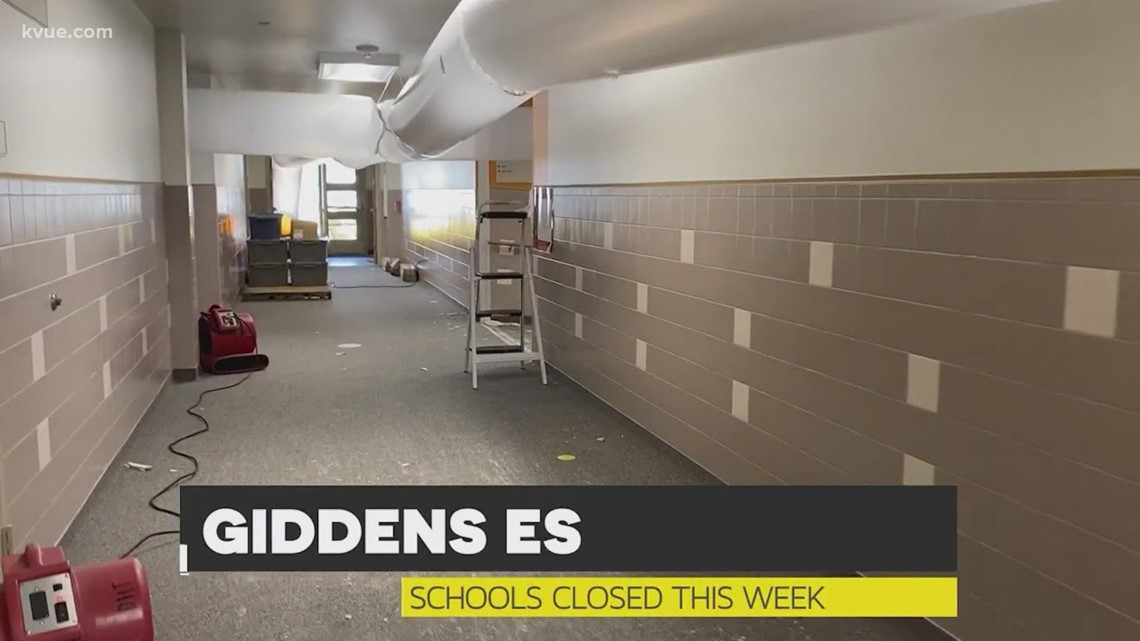 Central Texas schools cleaning up after winter storm damage
