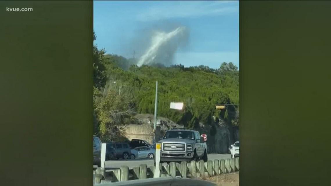 Water main break spouts water in air near Pennybacker Bridge, AFD says