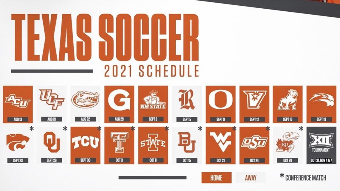 Texas Longhorns 2021 soccer schedule and game results