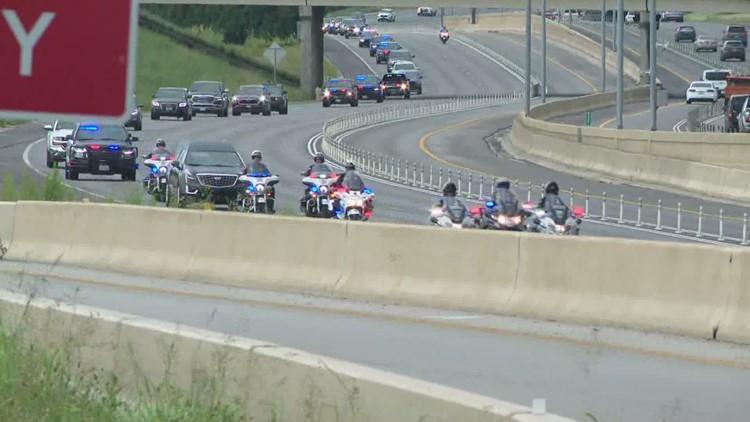 Funeral procession for fallen San Marcos Officer Justin Putnam