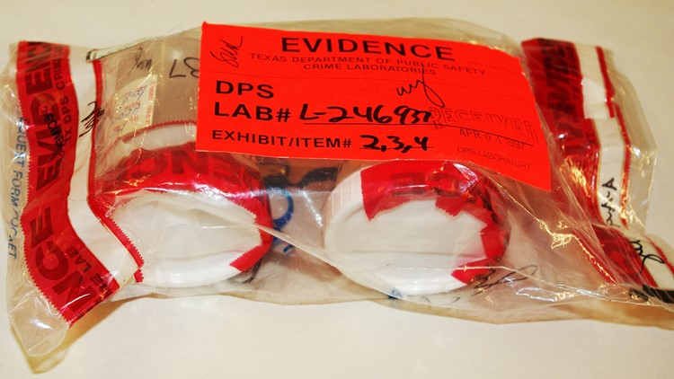 Samples of Rodney Reed's DNA