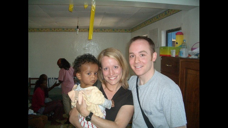 Meagan and Chase Brown first adopted Elijiah from an orphanage in Ehtiopia. He needed to have his leg amputated before he was two years old.