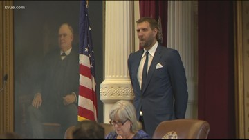 Dirk Nowitzki honored at Texas Capitol