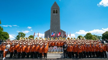 Texas Longhorn Alumni Band performs at 75th anniversary of D-Day