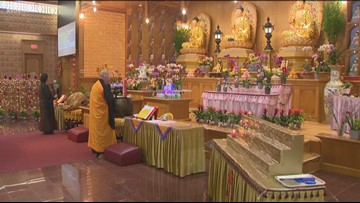 Hundreds celebrate Chinese New Year at Buddist temple in West Austin
