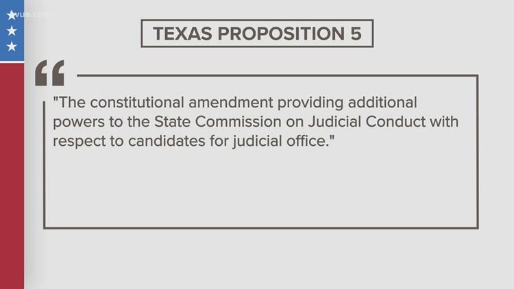 Proposed Texas Constitution amendment: Prop 5