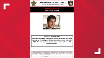 Hays County Sheriff's Office looking for teen missing since September