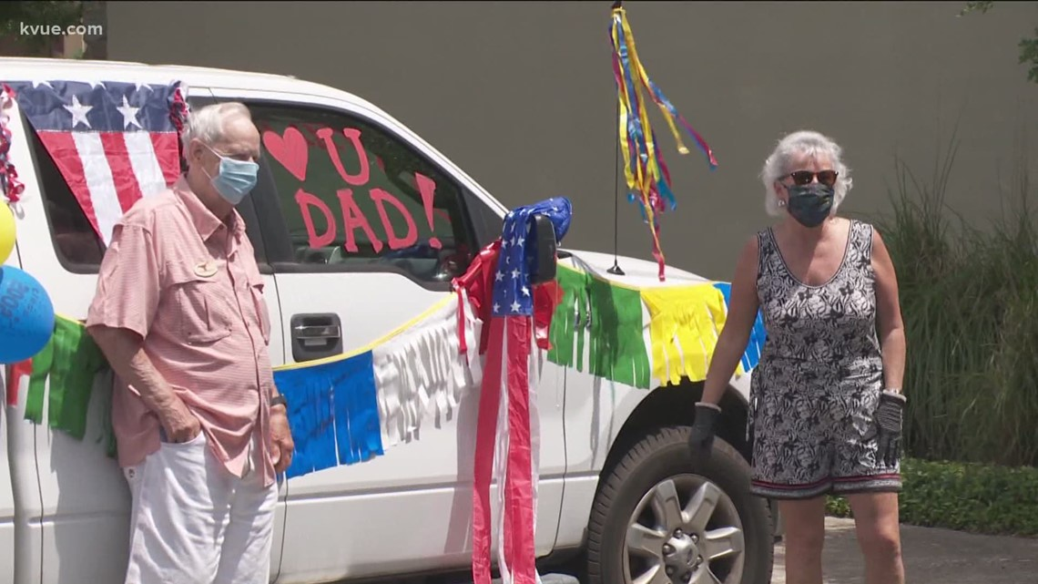 Father's Day surprise for residents at the Longhorn Village senior living community
