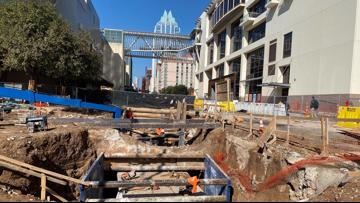 Capital Metro downtown rail station construction chugging along on time, on budget