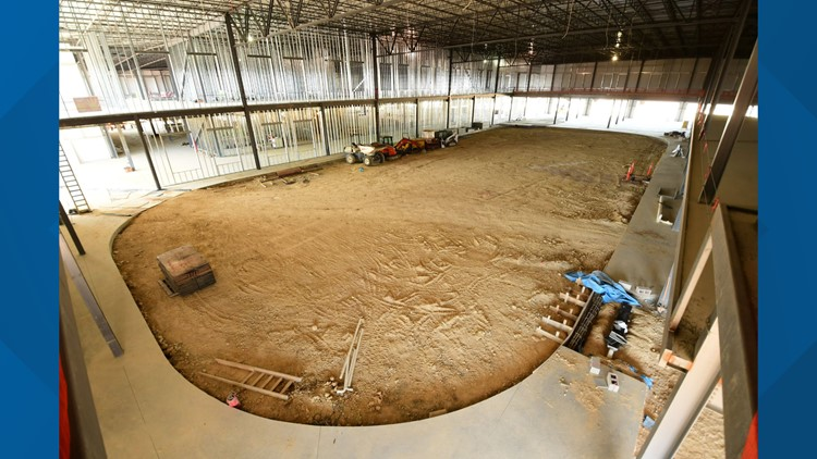 The Crossover sports complex construction