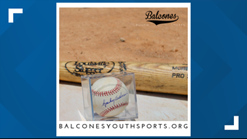 100 autographed MLB baseballs auctioned off to help two local teams