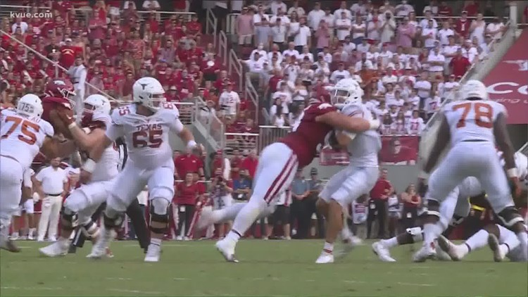 Sarkisian: Texas Longhorns offensive line pass protection problems 'are blaring'