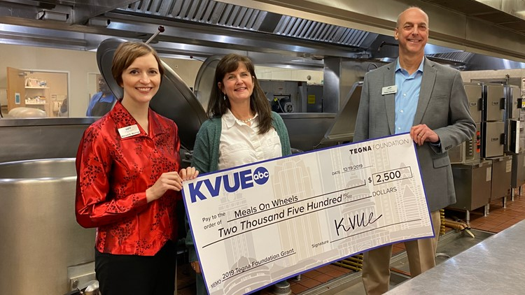 Meals on Wheels TEGNA foundation check presentation