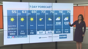 Mariel Wednesday morning weather 2/26/20