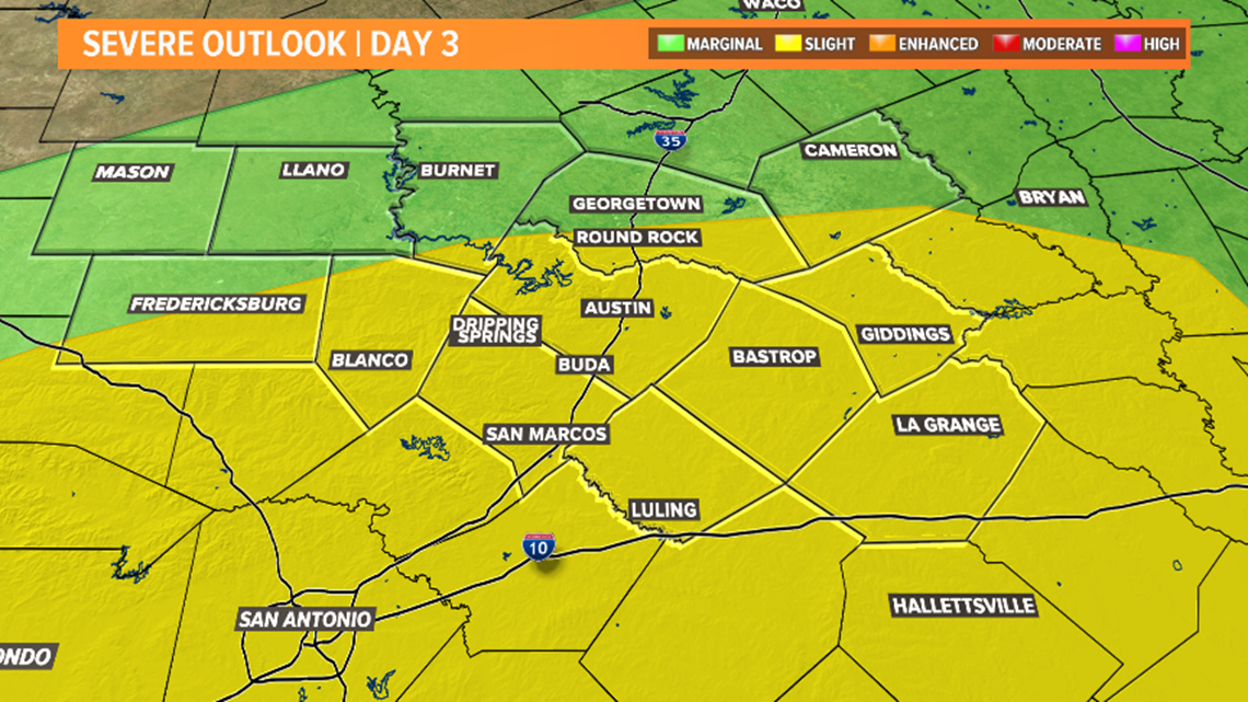 Heavy rain and severe weather threat increasing for Wednesday