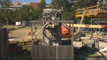 Artists working to save Austin's Chicano Rock sculpture