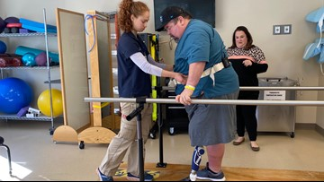 Hutto man learns to walk again after vibrio takes his leg