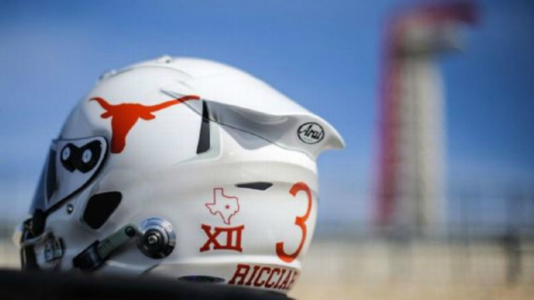 Formula 1 driver to wear Longhorns design on his helmet for U.S. Grand Prix race in Austin