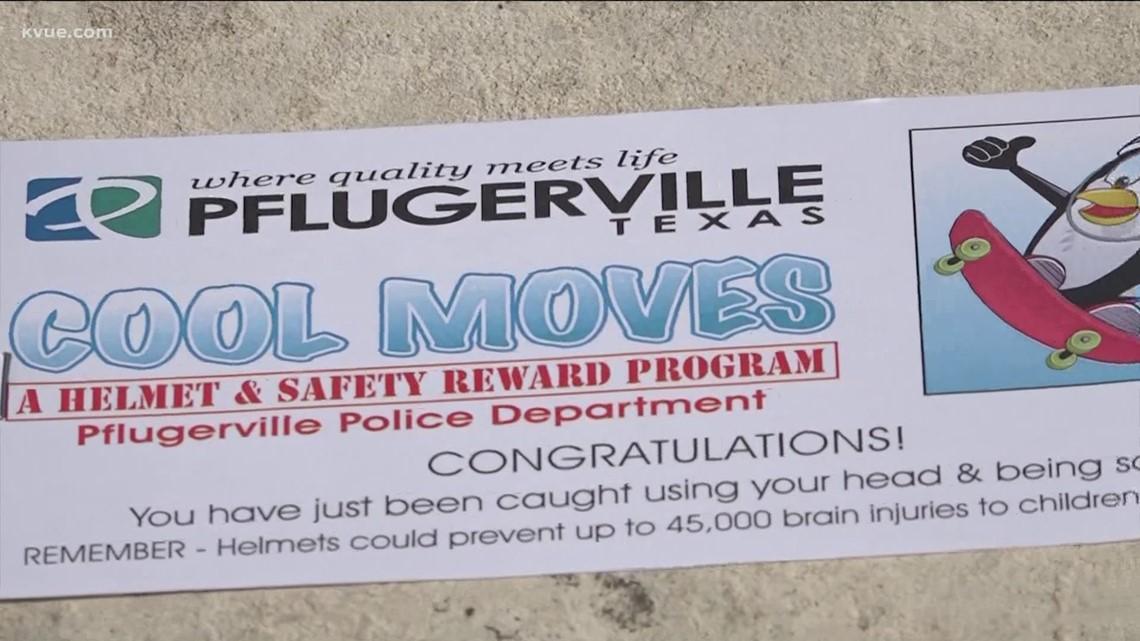 Pflugerville police rewarding kids for safe habits through 'Cool Moves' program