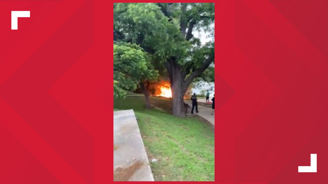 Video: Austin Fire Department puts out campfire near Lady Bird Lake