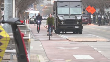 Austin now ticketing and towing vehicles parked in bike-only lanes