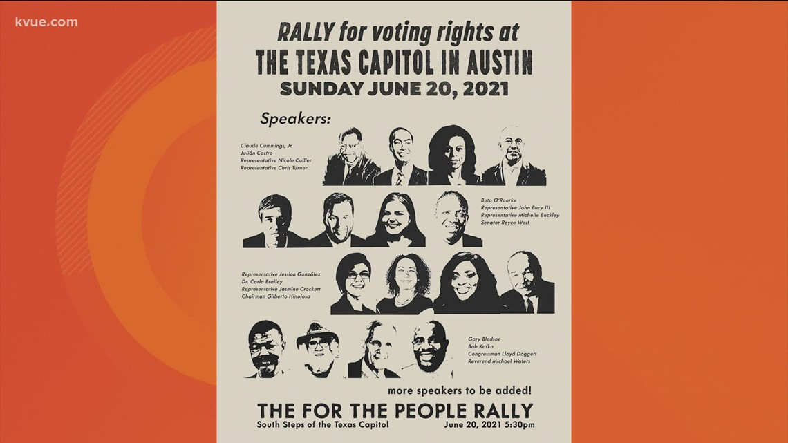 'For the People Act' supporters rally for voting rights at Texas Capitol
