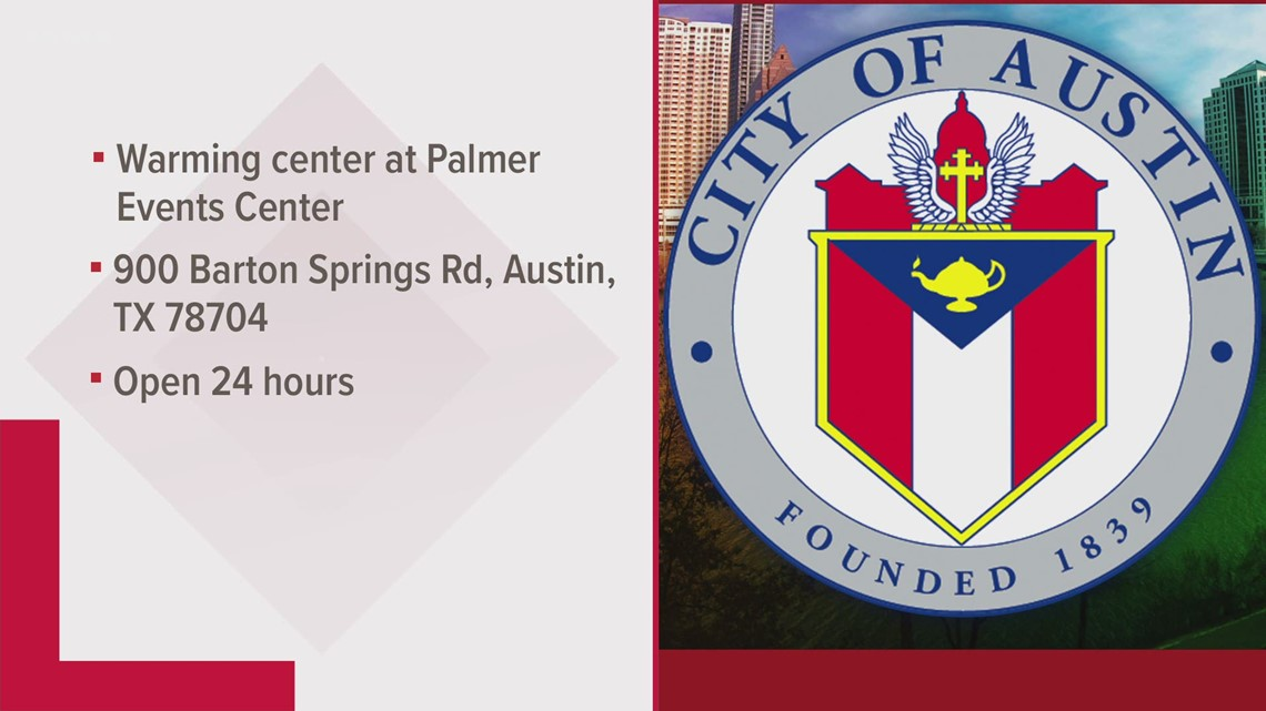 Austin's Palmer Events Center used as a warming center amid extreme cold