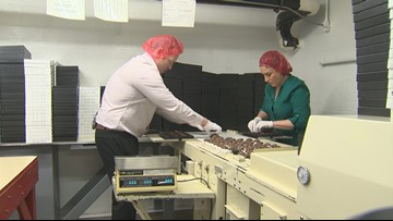 Take This Job: Filling chocolate treats for Valentine's Day at Lammes Candies