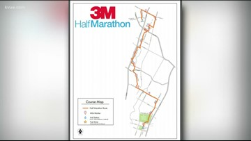 Road closures expected during race on Sunday