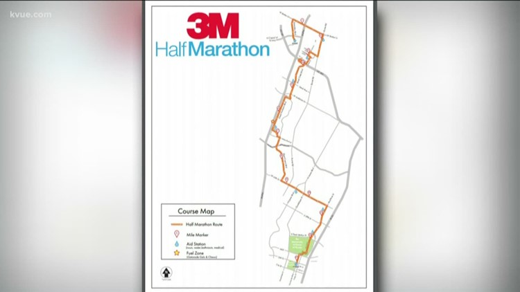 Road closures expected during half marathon race on Sunday