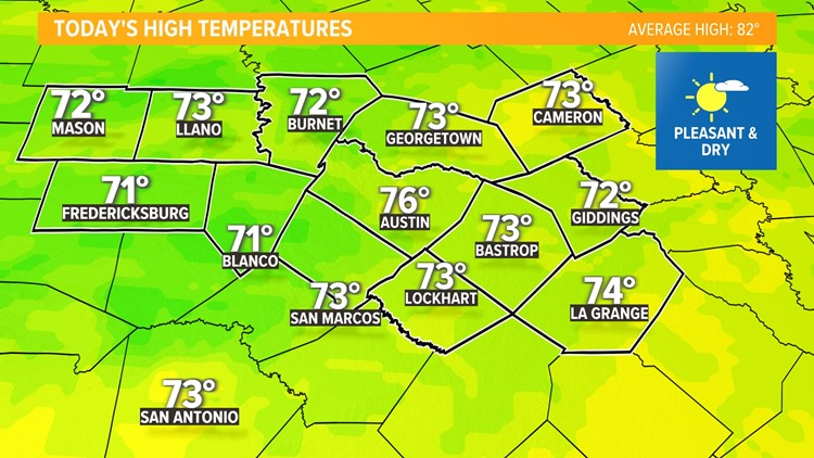 Feeling like fall this weekend for Central Texas