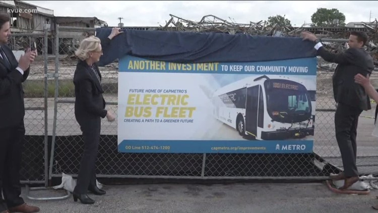 CapMetro unveils plan for electric buses in Austin