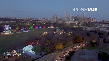 Drone video: Austin's beloved Trail of Lights opens