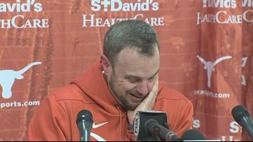 Tom Herman reacts to win vs. Texas Tech