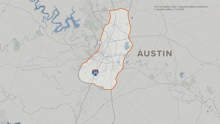 "The ""almost"" loop around Austin"
