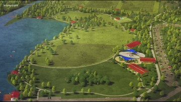 Performing arts pavilion at new park in Williamson County
