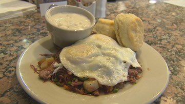 Start your day with a tummy full of comfort food at Monument Cafe in Georgetown