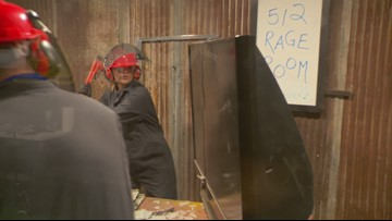 Let your stress out smashing glass, TVs and more at Rage Room in Kyle