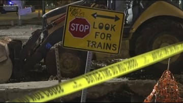 Crews cleaning up after train derailment