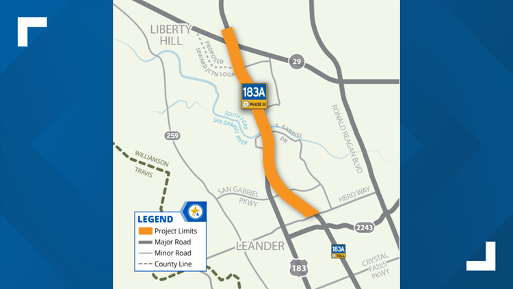 Mobility Authority working to extend 183A Toll northward in Liberty Hill area