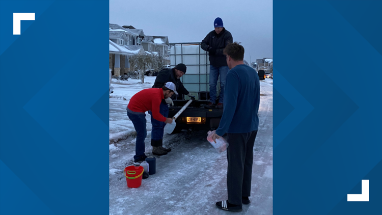 Local coaches provide water to neighborhoods in need