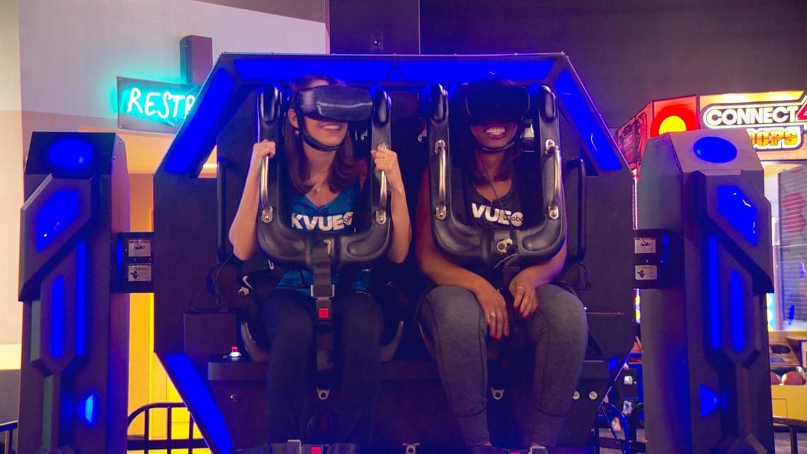 Enjoy VR roller coaster, games and more at Austin's Park N' Pizza